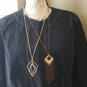 Bundle Long Necklaces Bronze & Gold